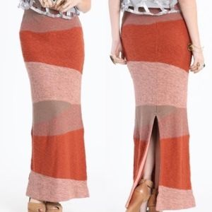Free People Knit Color Block Maxi Skirt or Dress